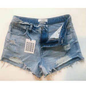 Pistola Distressed Jean Shorts
